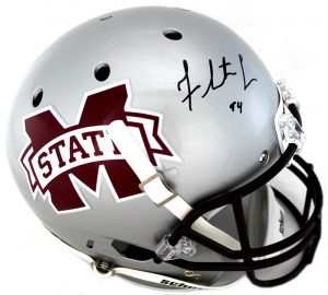 Fletcher Cox Signed MIssissippi State Bulldogs Schutt Full Size Silver NCAA Helmet-0