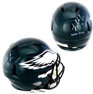 """Fletcher Cox Signed Philadelphia Eagles Riddell Full Size Speed NFL Helmet With """"SB 52 Champ"""" Inscription-0"""
