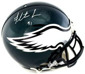 Fletcher Cox Signed Philadelphia Eagles Riddell Authentic NFL Helmet-0