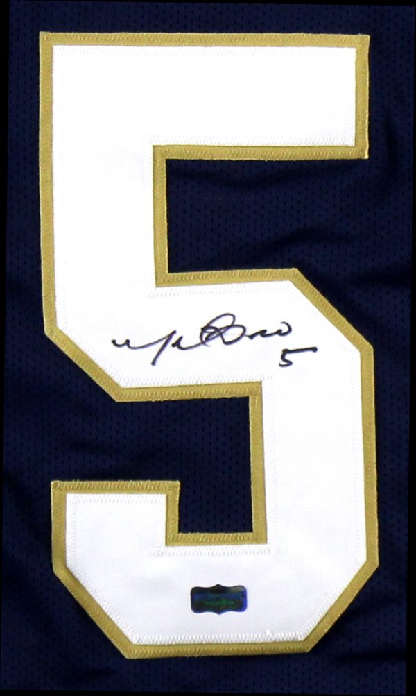 Manti Te'o Signed Notre Dame Custom Navy Jersey-32710