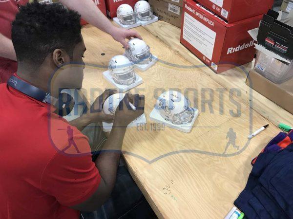 Myles Jack Signed Jacksonville Jaguars Riddell NFL Ice Mini Helmet -31359
