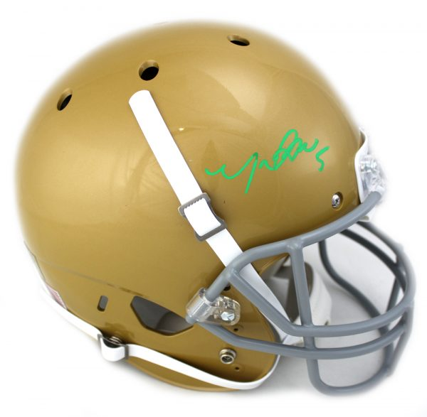 Manti Te'o Signed Notre Dame Fighting Irish Schutt NCAA Full-Size Helmet-0