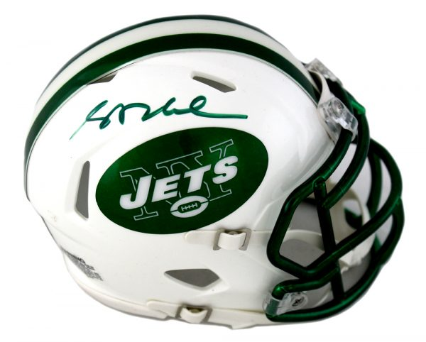 Sam Darnold Signed New York Jets NFL Speed Mini Helmet With Chrome Decal-0