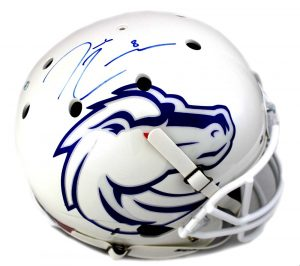 Demarcus Lawrence Signed Boise State Broncos Schutt Full Size NCAA White Helmet-0