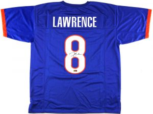 Demarcus Lawrence Signed Boise Custom Blue Jersey-0