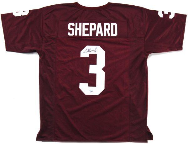Sterling Shepard Signed Oklahoma Custom Maroon Jersey -0
