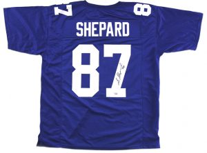 Sterling Shepard Signed New York Custom Blue Jersey-0