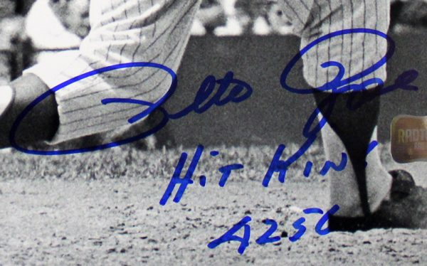 Pete Rose Autographed/Signed Cincinnati Reds 8x10 MLB Black and White Photo - Hit King 4256-29551