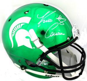 Kirk Cousins Signed Michigan State Spartans NCAA Schutt Full Size Chrome Helmet-0