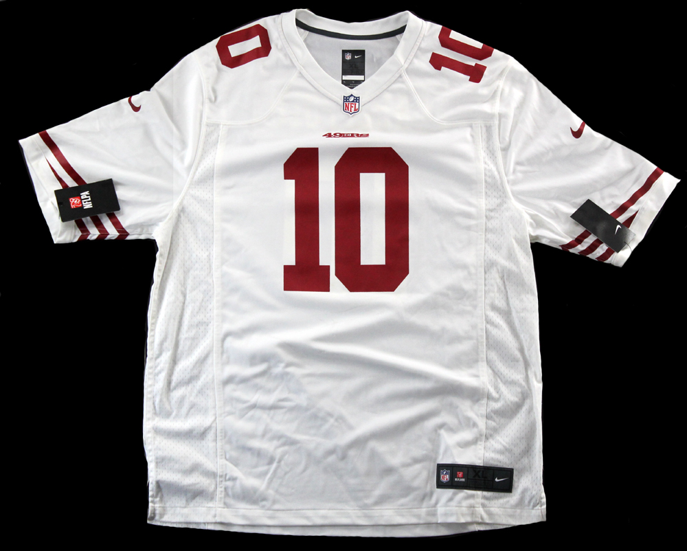 outlet store c3e1d 9cd68 Jimmy Garoppolo Signed San Francisco 49ers Nike Authentic White Jersey