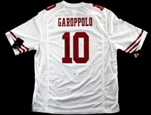 Jimmy Garoppolo Signed San Francisco 49ers Nike Authentic White Jersey -0