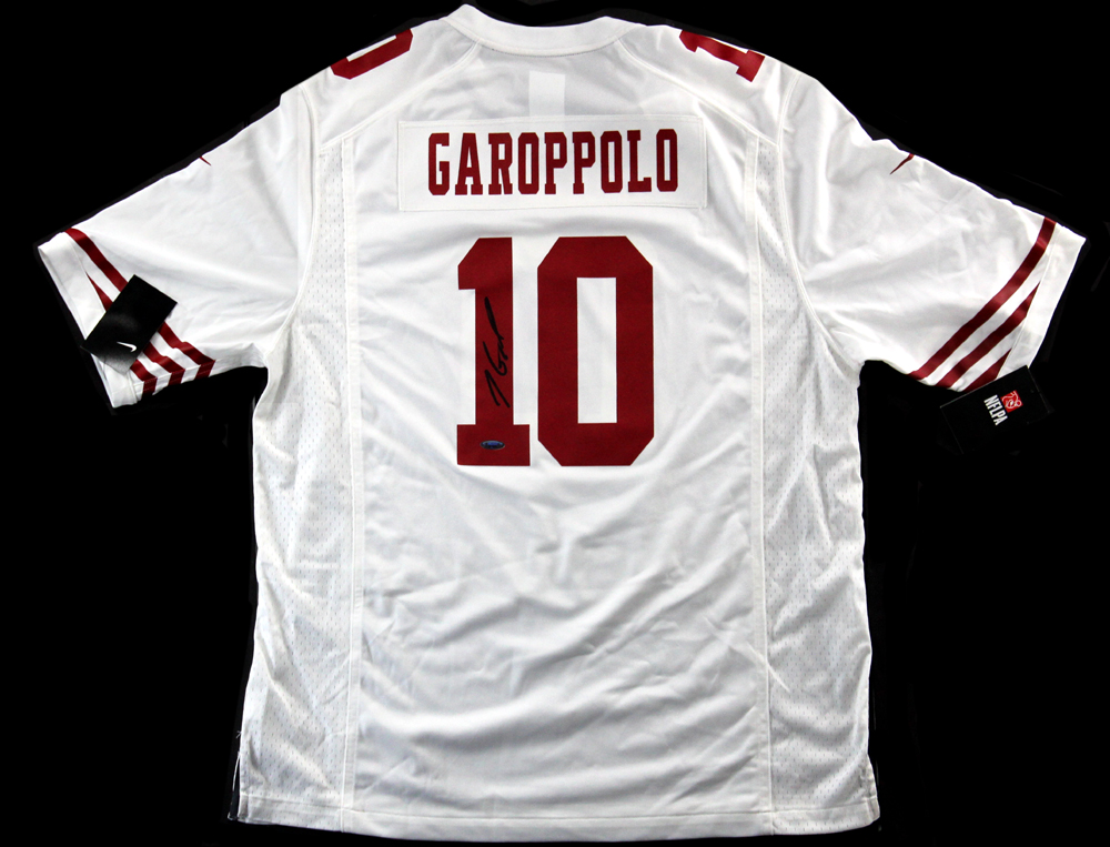 outlet store 7cd2b 41258 Jimmy Garoppolo Signed San Francisco 49ers Nike Authentic White Jersey