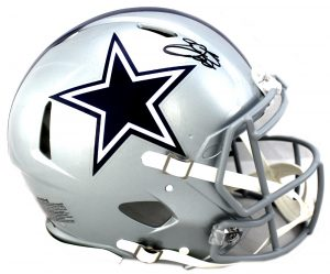 Emmitt Smith Signed Dallas Cowboys Riddell Authentic Speed NFL Helmet-0