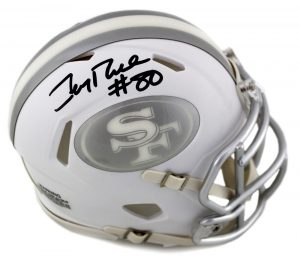 Jerry Rice Signed San Francisco 49ers Riddell NFL Speed ICE Mini Helmet-0