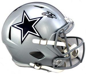 Emmitt Smith Signed Dallas Cowboys Riddell Speed Full Size NFL Helmet -0