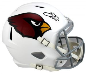 Emmitt Smith Signed Arizona Cardinals Riddell Full Size Color Rush Speed NFL Helmet -0