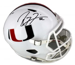 Ray Lewis Signed Miami Hurricanes Riddell Full Size NCAA Speed Helmet-0
