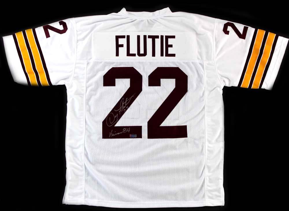 timeless design c8039 ed3e0 Doug Flutie Signed Boston College Eagles Custom White Jersey With