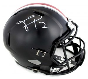 Terrell Pryor Signed Ohio State Buckeyes Riddell Full Size NCAA Black Helmet -0