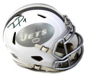 Terrell Pryor Autographed/Signed New York Jets NFL Ice Mini Helmet-31655