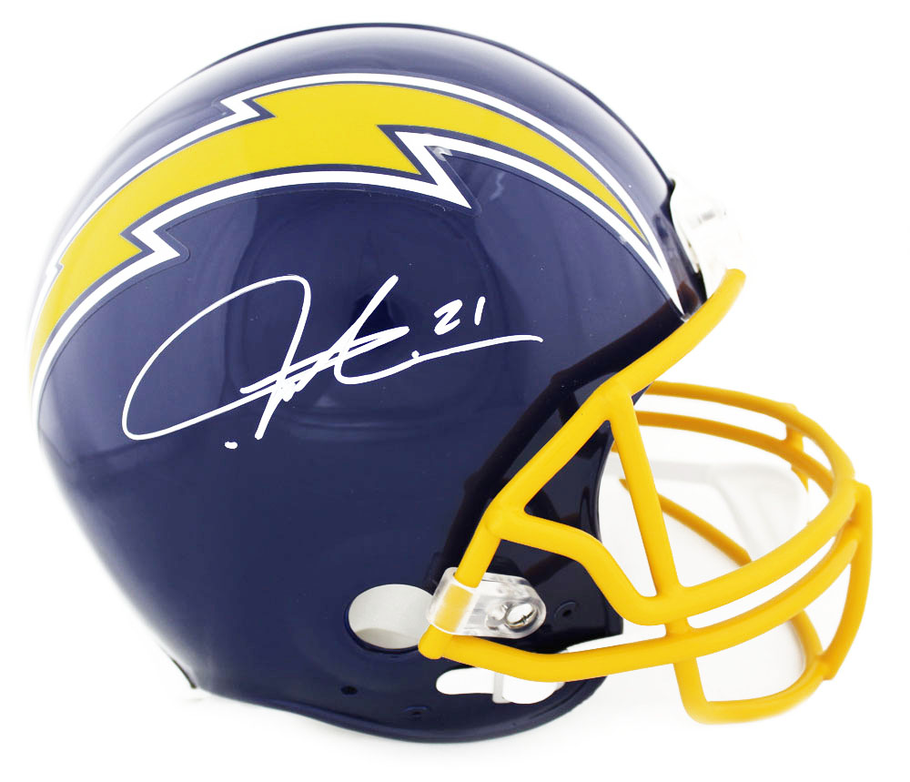 competitive price f0d88 c1277 LaDainian Tomlinson Signed San Diego Chargers Throwback Authentic Blue  Helmet