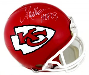 "Marcus Allen Signed Kansas City Chiefs Authentic NFL Helmet With ""HOF 03"" Inscription-0"
