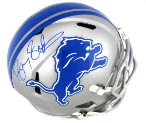 Barry Sanders Signed Detroit Lions Full Size NFL Speed Helmet-0