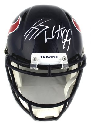 J.J. Watt Signed Houston Texans Speed Full Size NFL Helmet -0