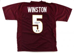 Jameis Winston Signed Florida State Seminoles Maroon Custom Jersey -0