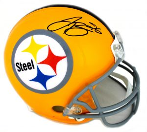 LeVeon Bell Signed Pittsburgh Steelers TB Full Size Yellow NFL Helmet-0