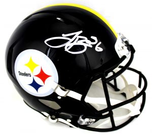 LeVeon Bell Signed Pittsburgh Steelers Riddell Authentic NFL Speed Helmet-0