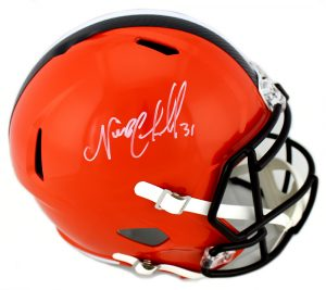 Nick Chubb Signed Cleveland Browns NFL Full Size Speed Helmet-0