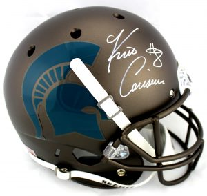 Kirk Cousins Signed Michigan State Spartans NCAA Schutt Full Size Bronze Helmet-0