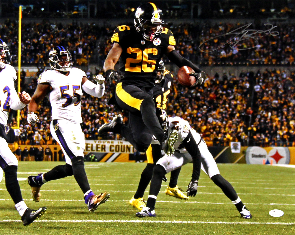 bd400acd4c7 LeVeon Bell Signed Pittsburgh Steelers 16×20 Color Rush Photo ...