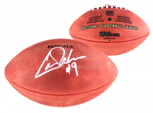 Carson Palmer Signed NFL Cincinnati Bengals Authentic Stamped Wilson Football-0