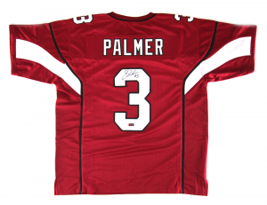 Carson Palmer Signed Arizona Red Custom Football Jersey-0