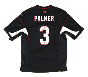 Carson Palmer Signed NFL Arizona Cardinals Black Nike Jersey-0