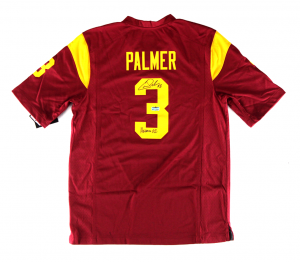 "Carson Palmer Signed NCAA USC Trojans Maroon Nike Jersey with ""Heisman 02"" Inscription-0"