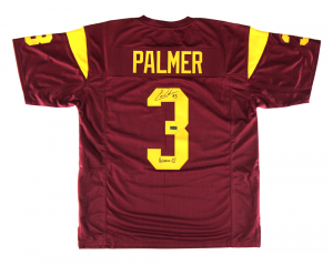 "Carson Palmer Signed USC Maroon Custom Football Jersey with ""Heisman 02"" Inscription-0"