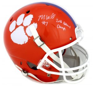Mike Williams Signed Clemson Tigers Schutt Full Size Helmet-0