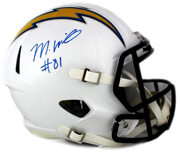 Mike Williams Signed Los Angeles Riddell Full Size Speed Helmet-0