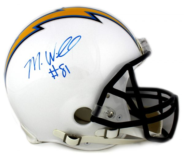 Mike Williams Signed Los Angeles Chargers Riddell Full Size Authentic Helmet-0