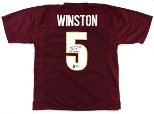 "Jameis Winston Signed Florida State Seminoles Maroon Custom Jersey With ""2013 Heisman"" Inscription -0"