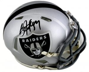 Bo Jackson Signed Oakland Raiders Riddell NFL Mini Speed Helmet-0