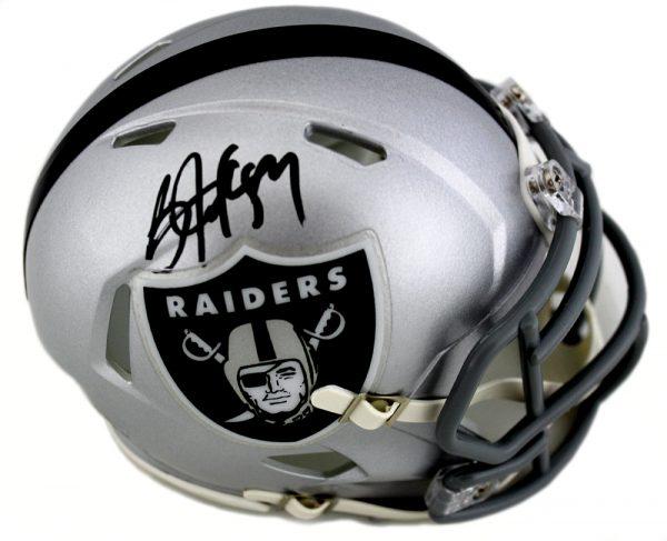 Bo Jackson Signed Oakland Raiders Riddell NFL Mini Speed Helmet-0