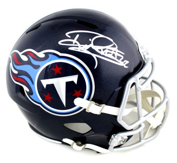 Derrick Henry Signed Tennessee Titans Riddell Full Size NFL Blue Speed Helmet-0