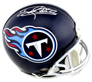 Derrick Henry Signed Tennessee Titans Riddell Full Size Authentic NFL Blue Helmet-0