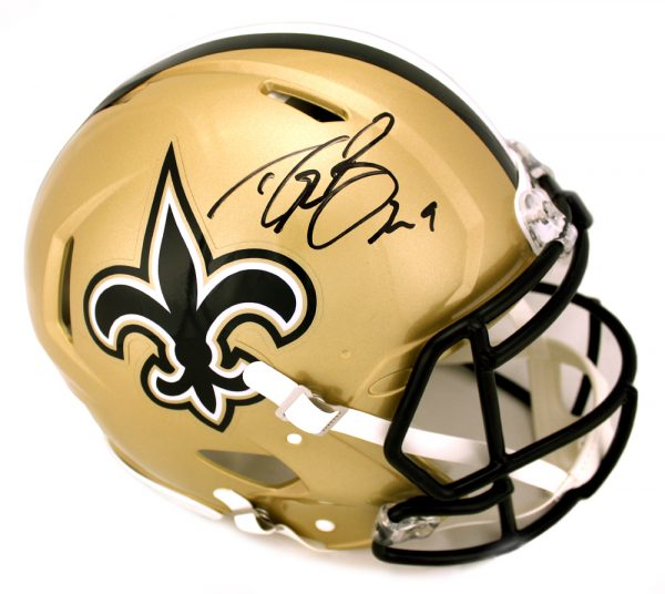 Drew Brees Signed New Orleans Saints Riddell Authentic Speed Full Size NFL Helmet-0