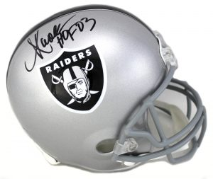 "Marcus Allen Signed Oakland Raiders Authentic NFL Helmet With ""HOF 03"" Inscription-0"