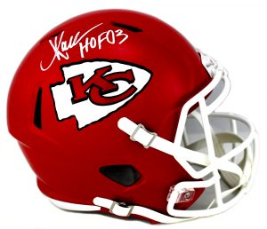 "Marcus Allen Signed Kansas City Chiefs Full Size NFL Speed Helmet With ""HOF 03"" Inscription-0"